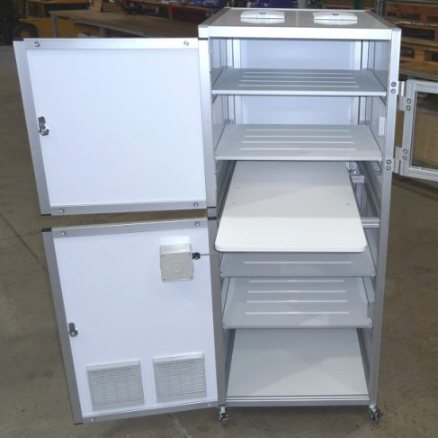 Component Trolley -Shelving, tops, filters and doors