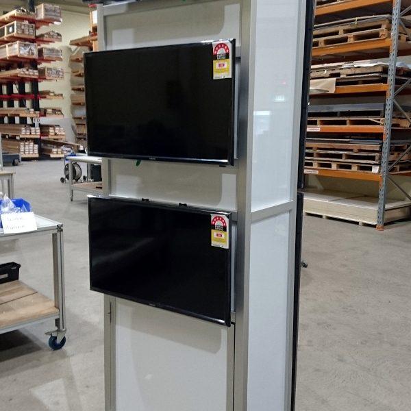 Triple TV display stand - alternative view